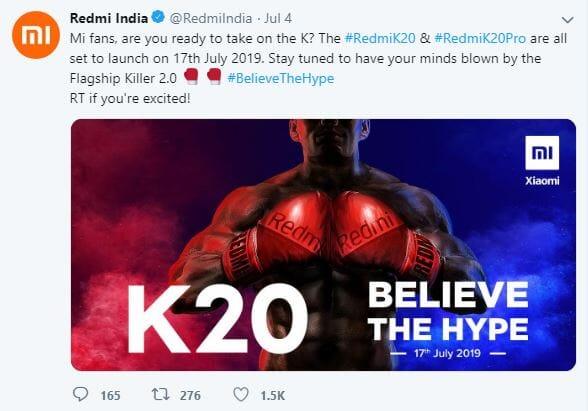 xiomi launches redmi k20 pro